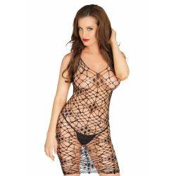 Bordeaux net bodycon dress, black, O/S