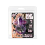 Rabbit Silicone Vibrating Cockring Purple