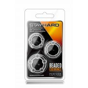 Stay Hard Beaded Cockrings Clear