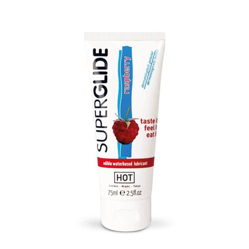 HOT Superglide edible lubricant waterbased - RASPBERRY 75 ml