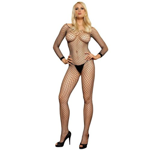 728380 Lycra Industrial Long Sleeves Bodystocking O/S Black