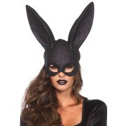 Glitter Masquerade Rabbit Mask Black