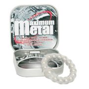 Maximum Metal Transparant Ring With Beads
