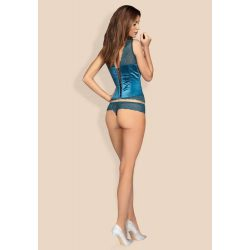 Miamor corset & thong turquoise S/M