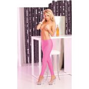 Sleek and shiny pink leggings: S/M