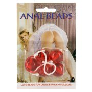 Anal Balls Clear Red Large