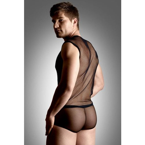 Net set - shirt and thong - black    M/L